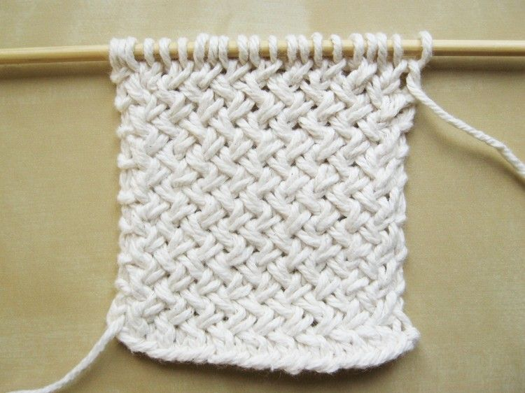 Diagonal Basketweave Knitting Pattern | Pinterest | Knitting ...