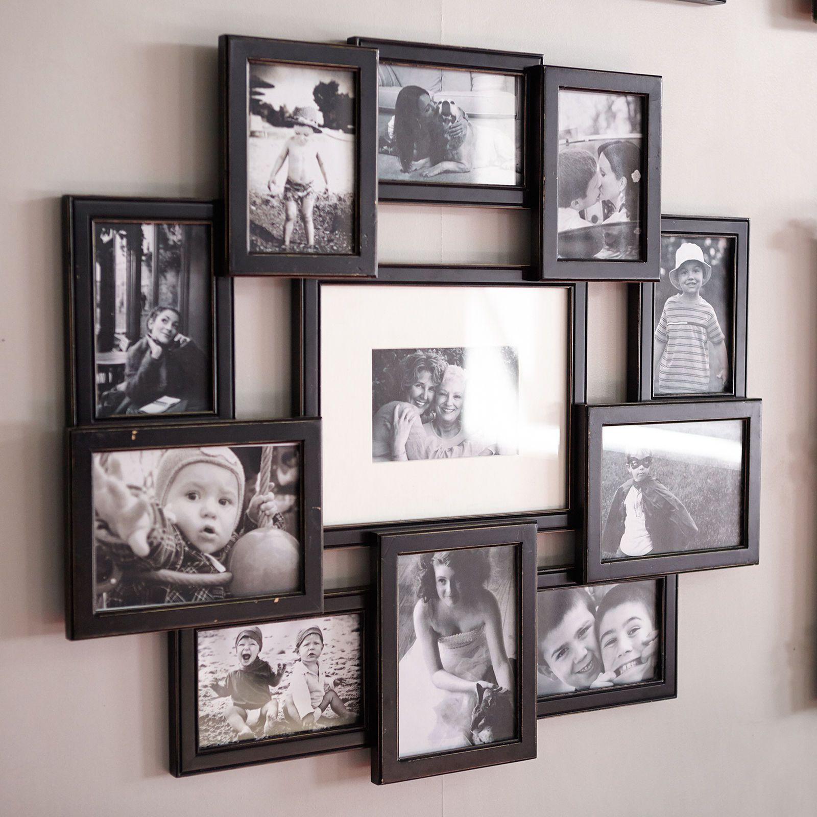 With This Awesome Collage Frame You Won 39 T Have To Choose One Picture You Want To Displ Wall Collage Picture Frames Framed Photo Collage Wall Collage Decor