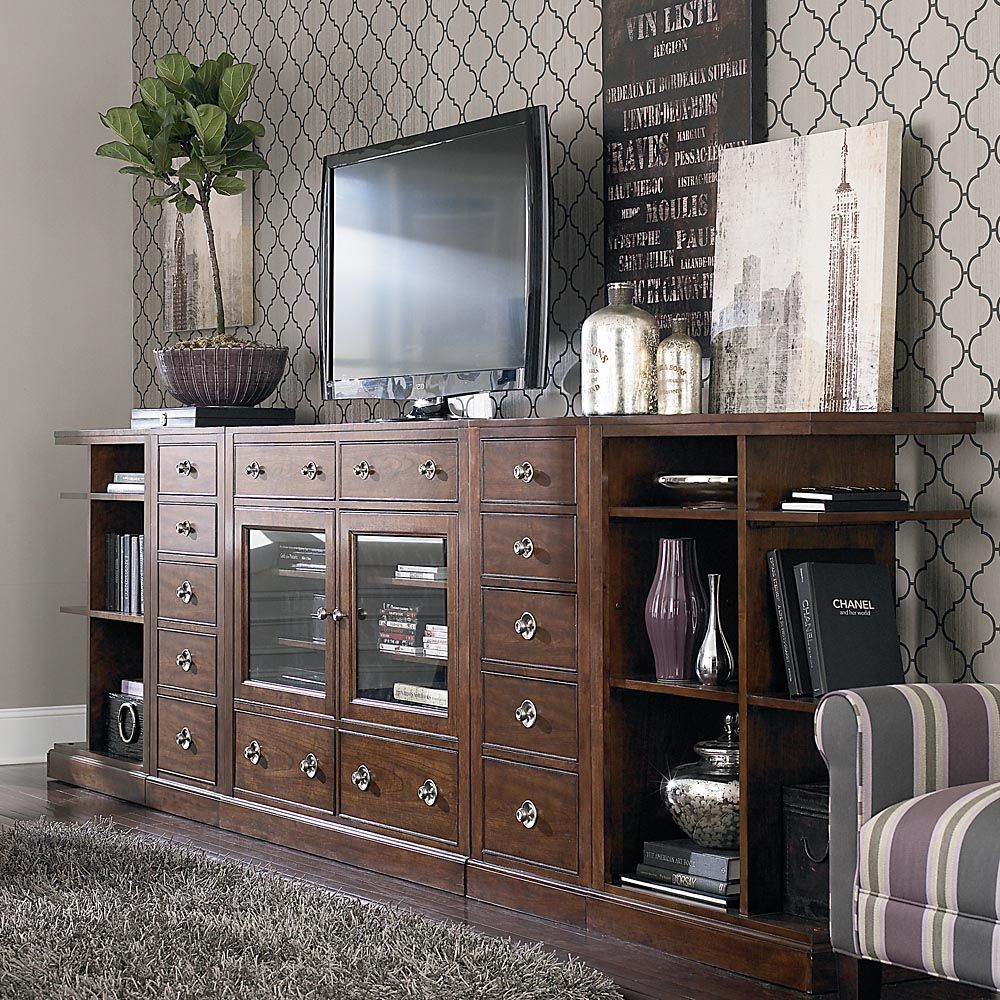 Small Spaces Entertainment Console Wall | BASSETT FURNITURE AND ...