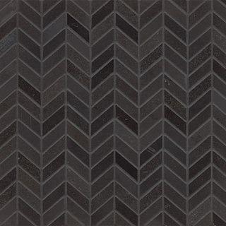 Inside fireplace? Absolute Black Granite Chevron Mosaic Polished ...