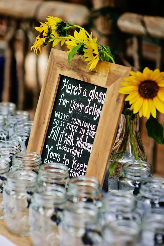 bold country sunflower wedding