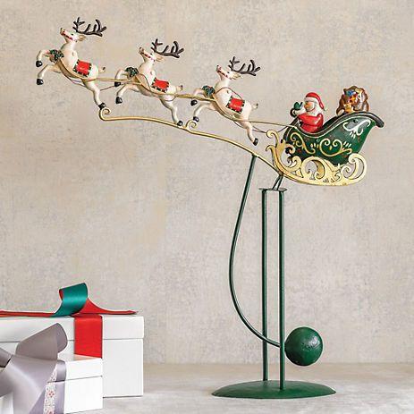 Santa's Sleigh Balance Toy~Gumps Christmas Shows, Christmas Goodies,  Christmas Projects, Santa - Santa's Sleigh Balance Toy~Gumps Holiday: Christmas Pinterest