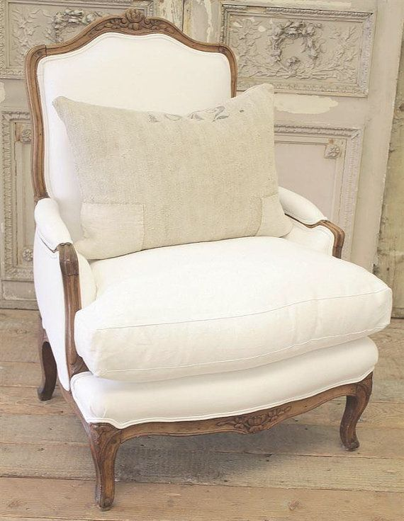 Antique French Country Bergere Chair by FullBloomCottage on Etsy - Wydeven Designs: French Furniture - Five Major Chair Styles La