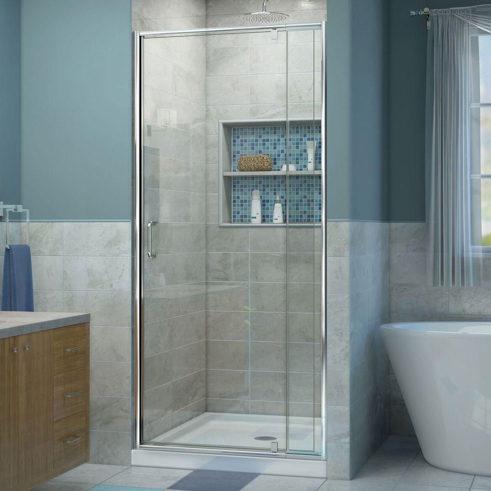 Dreamline Flex 32 To 36 In X 72 In Framed Pivot Shower Door In
