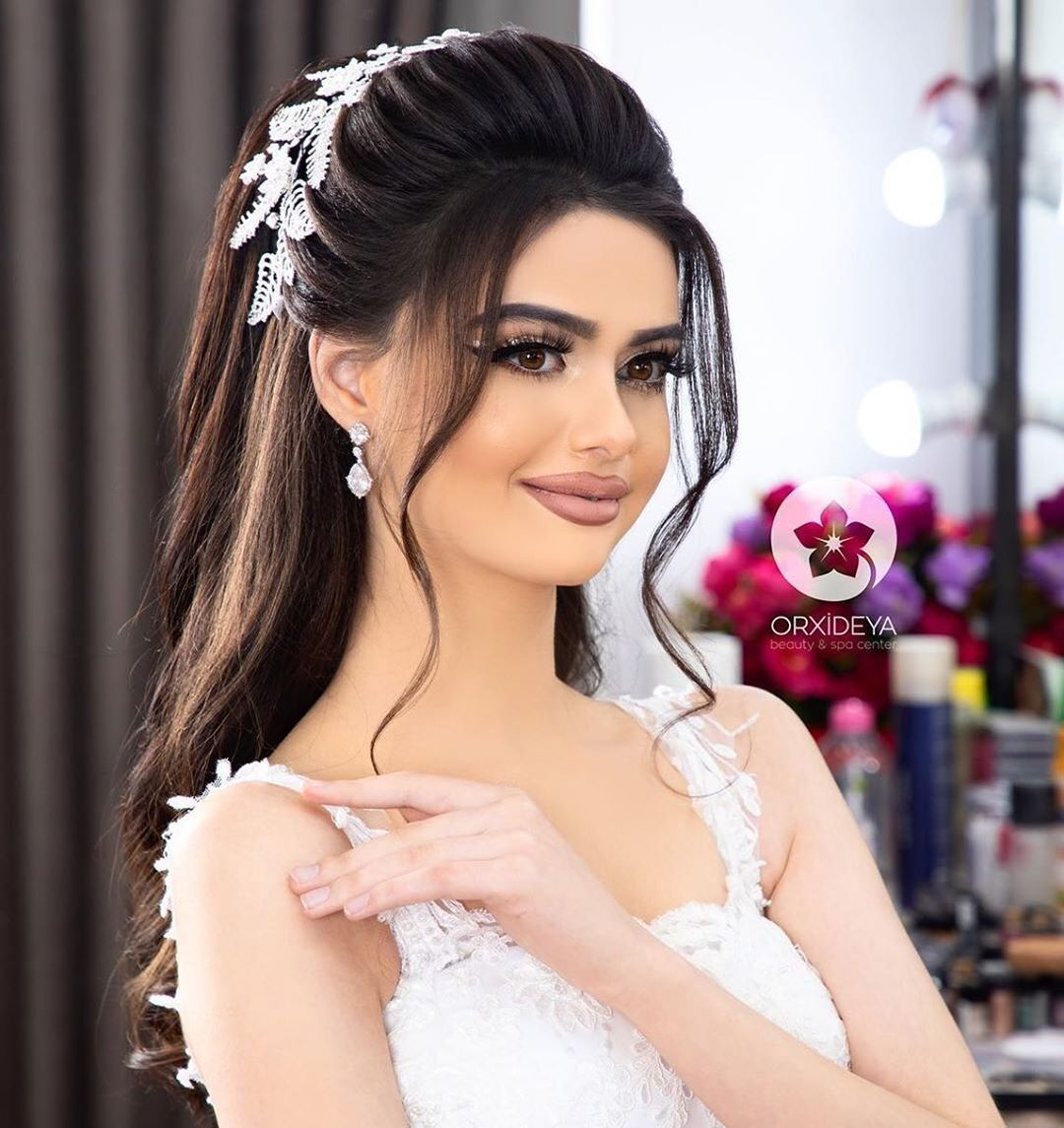 31 Likes 0 Comments Gelin Sac Makiyaj Wedding Orxideyabeauty Vip On Instagram Sac Bridal Hair Buns Front Hair Styles Bridal Hairstyle Indian Wedding