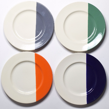 These Dinner Plates Are Made In A Small Earthenware Pottery Portugal They Dipped