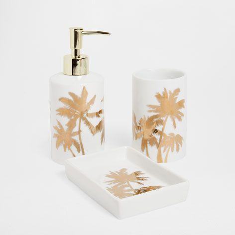 GOLDEN TRANSFER BATHROOM SET - Accessories - Bathroom | Zara Home ...