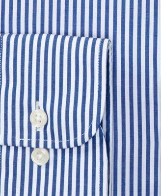 c875e00d Lauren Ralph Lauren Non-Iron Blue Bengal Stripe Dress Shirt - Blue 17.5  36/37