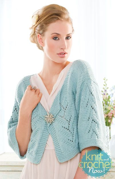 Free Knitting Pattern Download -- This Hint of Lace Cardigan, designed by Deborah Newton, is featured in episode 402 of Knit and Crochet Now! TV. Learn more here: www.knitandcrochetnow.com