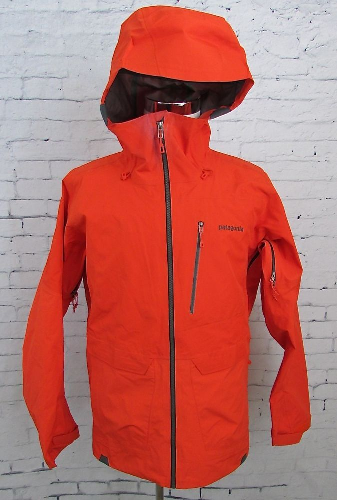 Mens Patagonia Powslayer Gore Tex Pro Shell Ski Jacket Size Small Bright  Orange  Patagonia  SkiJacket faf0a488a1bc