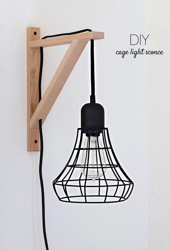 Make It Diy Cage Light Sconce Ikea Hack Home étagères