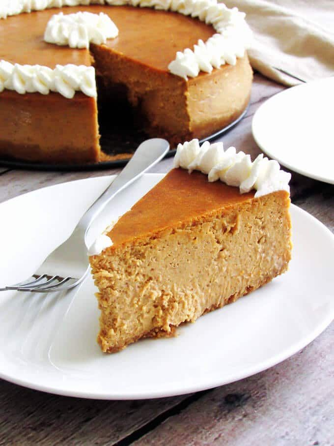 Pumpkin cheesecake is quite possibly one of the BEST seasonal recipes with it rich, creamy filling and buttery, graham cracker crust.