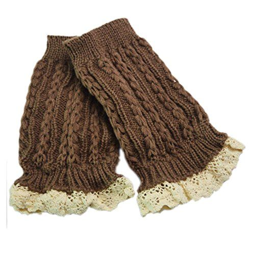 Leg Lace Warm Socks Cuffs Nice Top Knitted Hot Boot Toppers Crochet Fashion j ColorKhaki * Read more reviews of the product by visiting the link on the image.