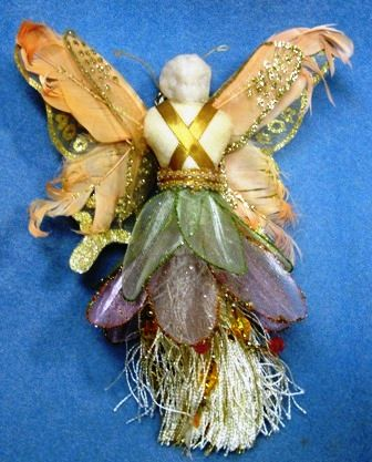 Two Crafty Mules: China Head Butterfly Angel Doll Ornament Tutorial