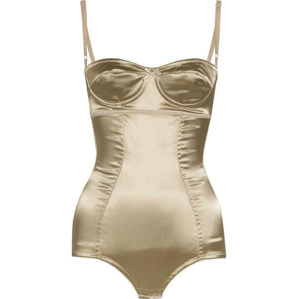26ede4cd38 Discount Dolce   Gabbana Satin bustier bodysuit