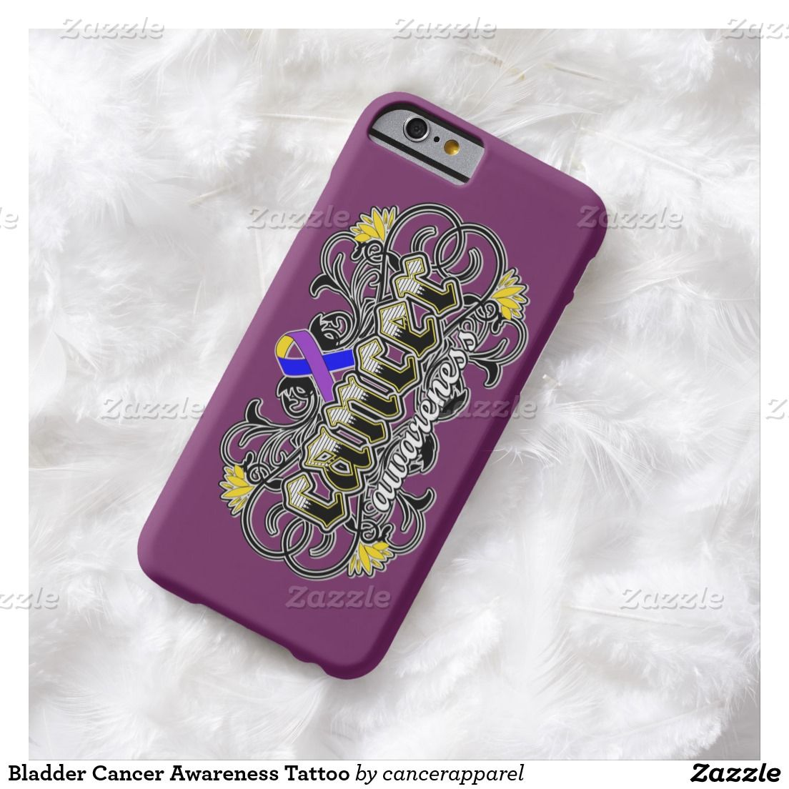 Bladder Cancer Awareness Tattoo Barely There iPhone 6 Case
