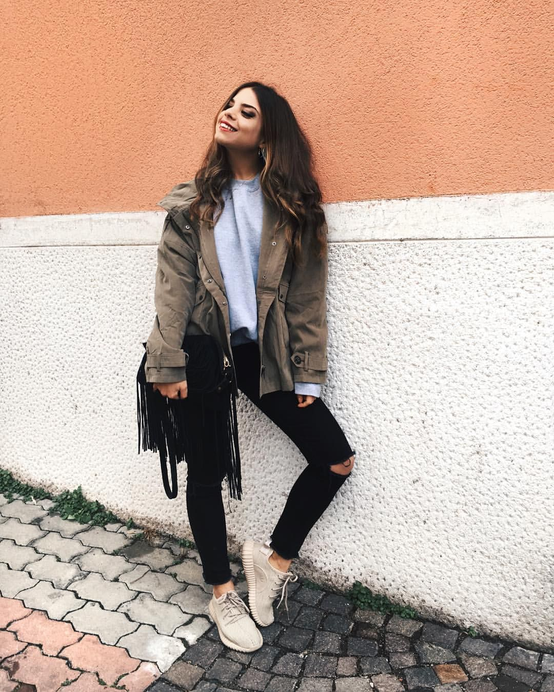 Francesca Cinà ❣ su Instagram  myway    comfy clothes✌️Double agent Usa  jacket - yeezy boost 350 from  par5milano b10fcf228b