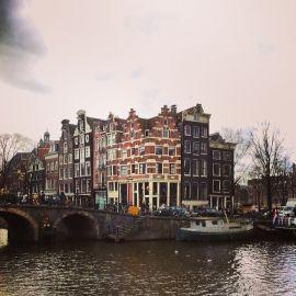 Even in dark days Amsterdam is still beautiful.