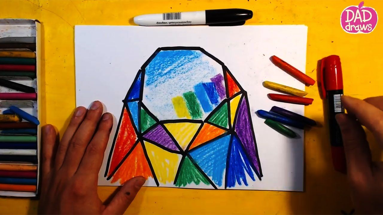 How to draw a colored diamond / Rainbow / Art for Kids