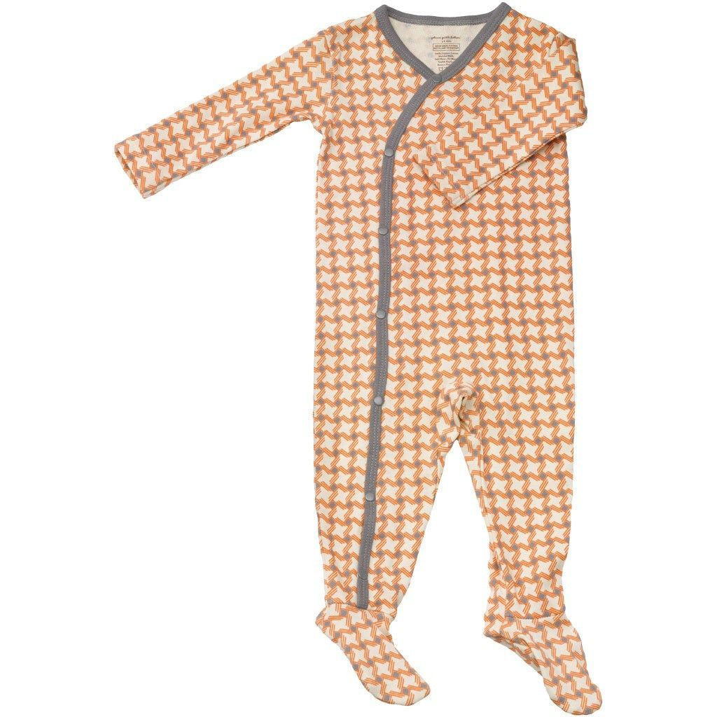 Footed Union Suit in Diamond Tread
