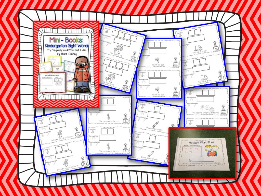 Sight Words Mini Books Fry List 1