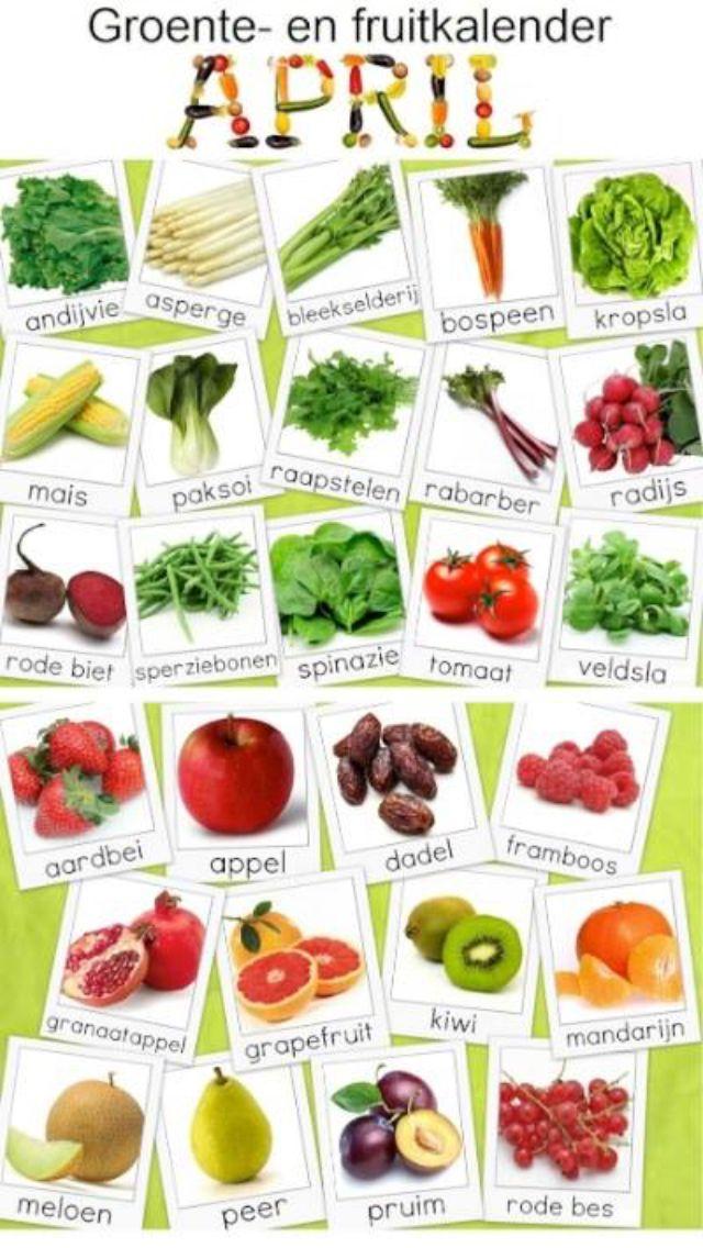Welp Groenten kalender april   Groente, Groenten, Gezond eten YZ-37