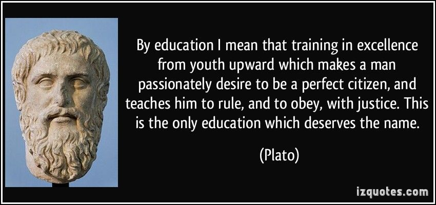 Image result for plato on education