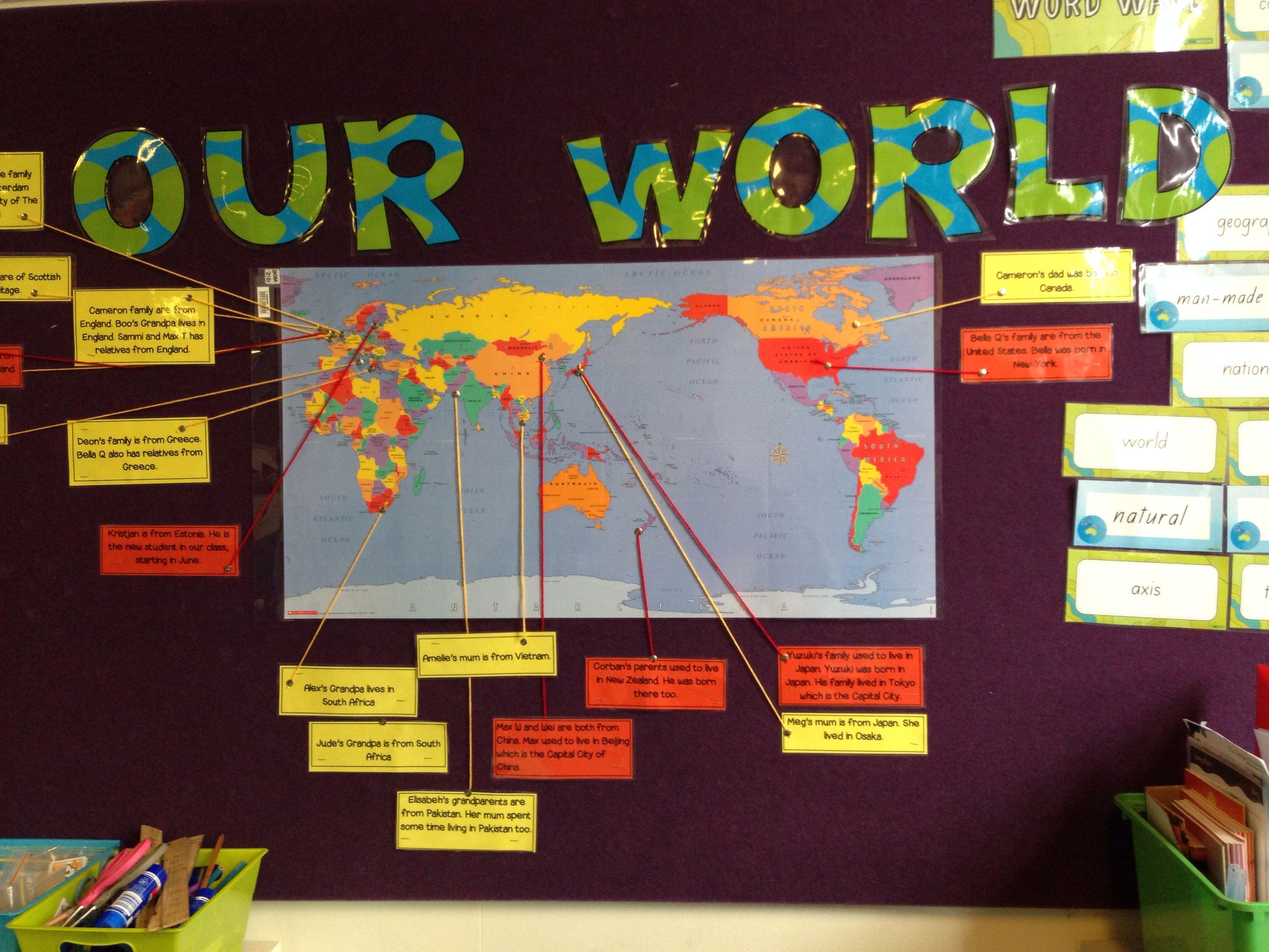 Classroom Ideas Display ~ Geography teaching ideas classroom display mark countries