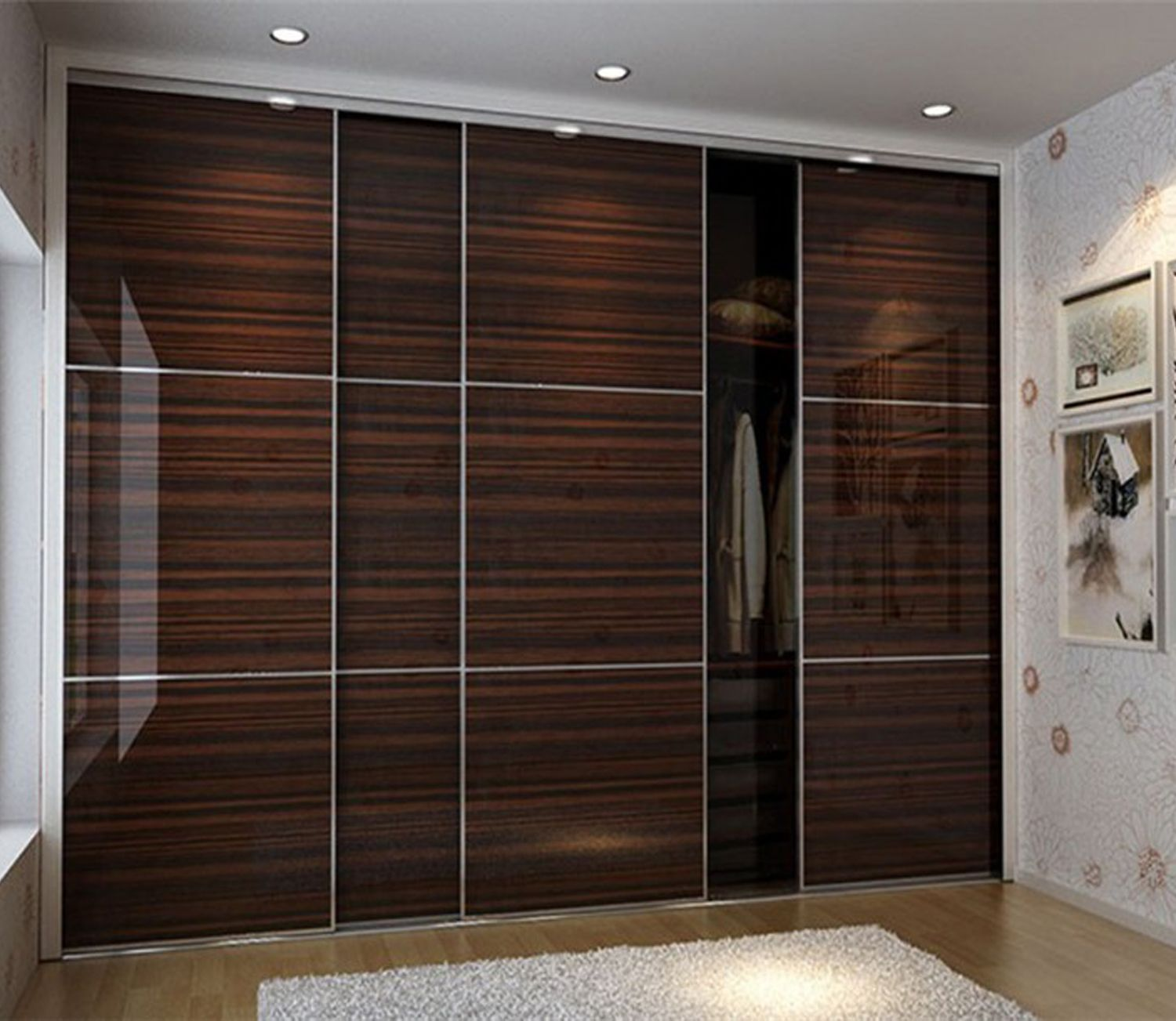 Superbe Laminate Wardrobe Designs In Black Bedroom Furniture. This Chocolate Wall  Wardrobe With Super Gloss And