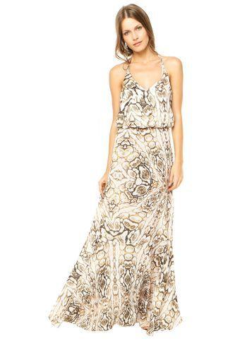 bc887f385 Vestido Colcci Longo Multicolorido | Outfits | Pinterest | Vestidos ...