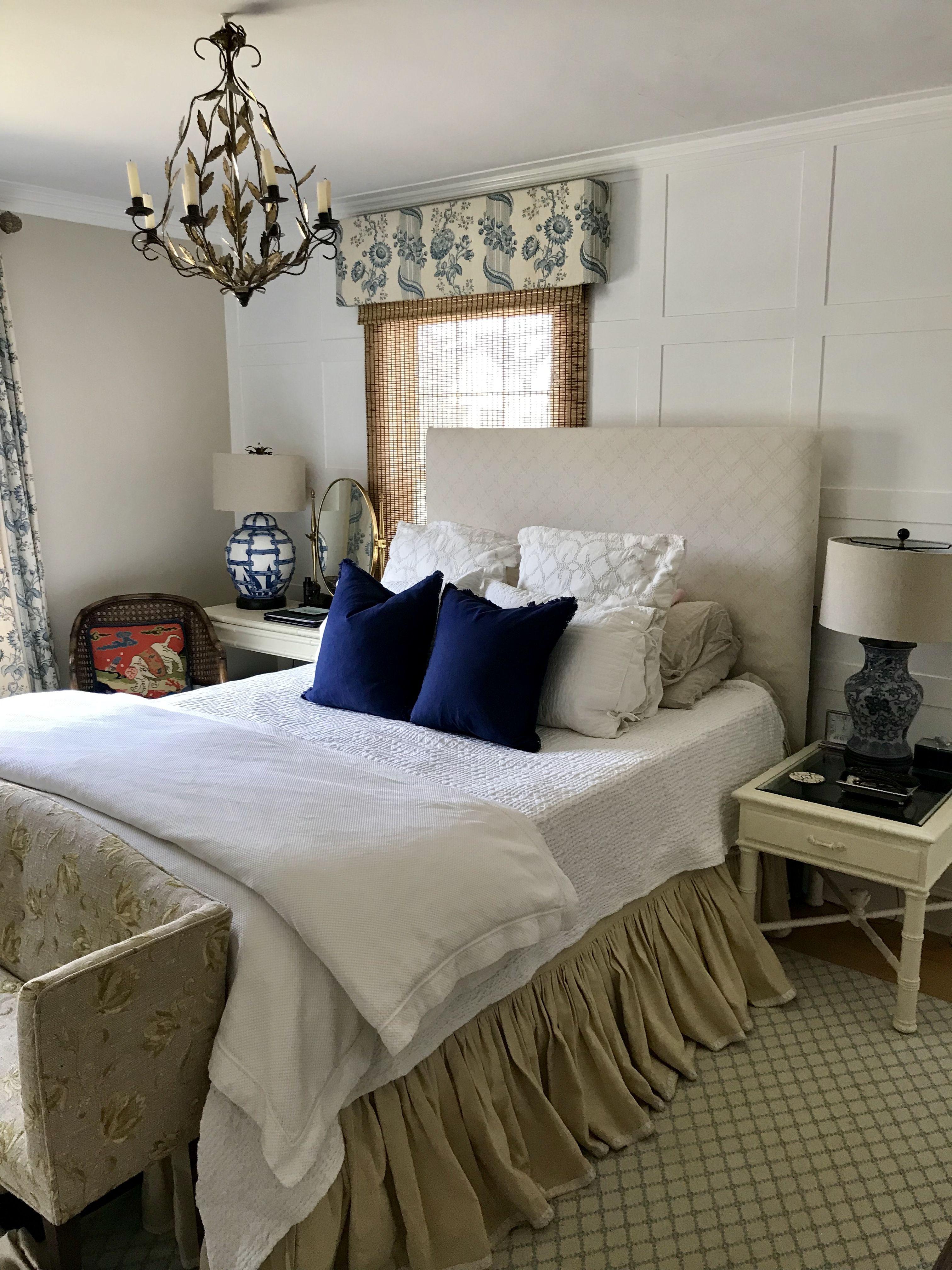 Blue white and beige master bedroom Blue bedroom, Blue