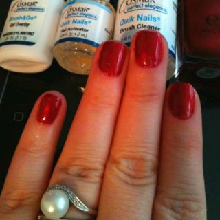 Shellac Nails Without Uv Cosmar Nail Home Kit 9 99 Cvs Comes With And Gel Overlay Activator I Didn T Use Just My Natural
