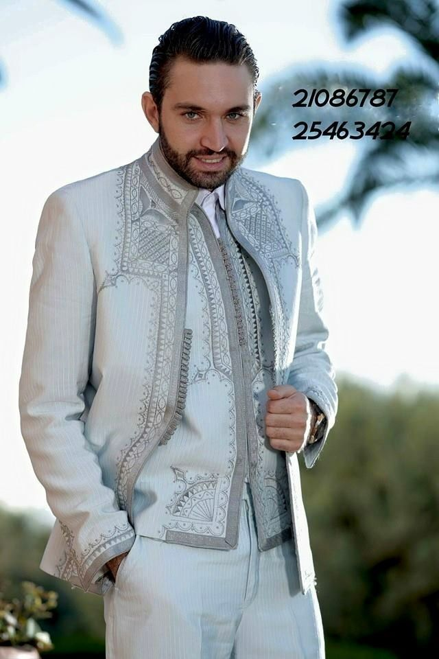 costume en soir avec broderie tunisienne caftans marocain version homme pinterest tunisien. Black Bedroom Furniture Sets. Home Design Ideas