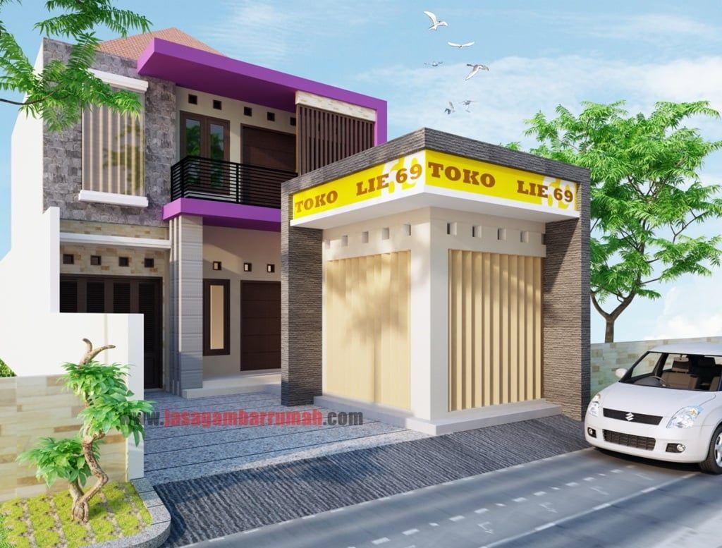 Desain Rumah Warung Minimalis Art Deco Home Simple House Design Small House Exterior