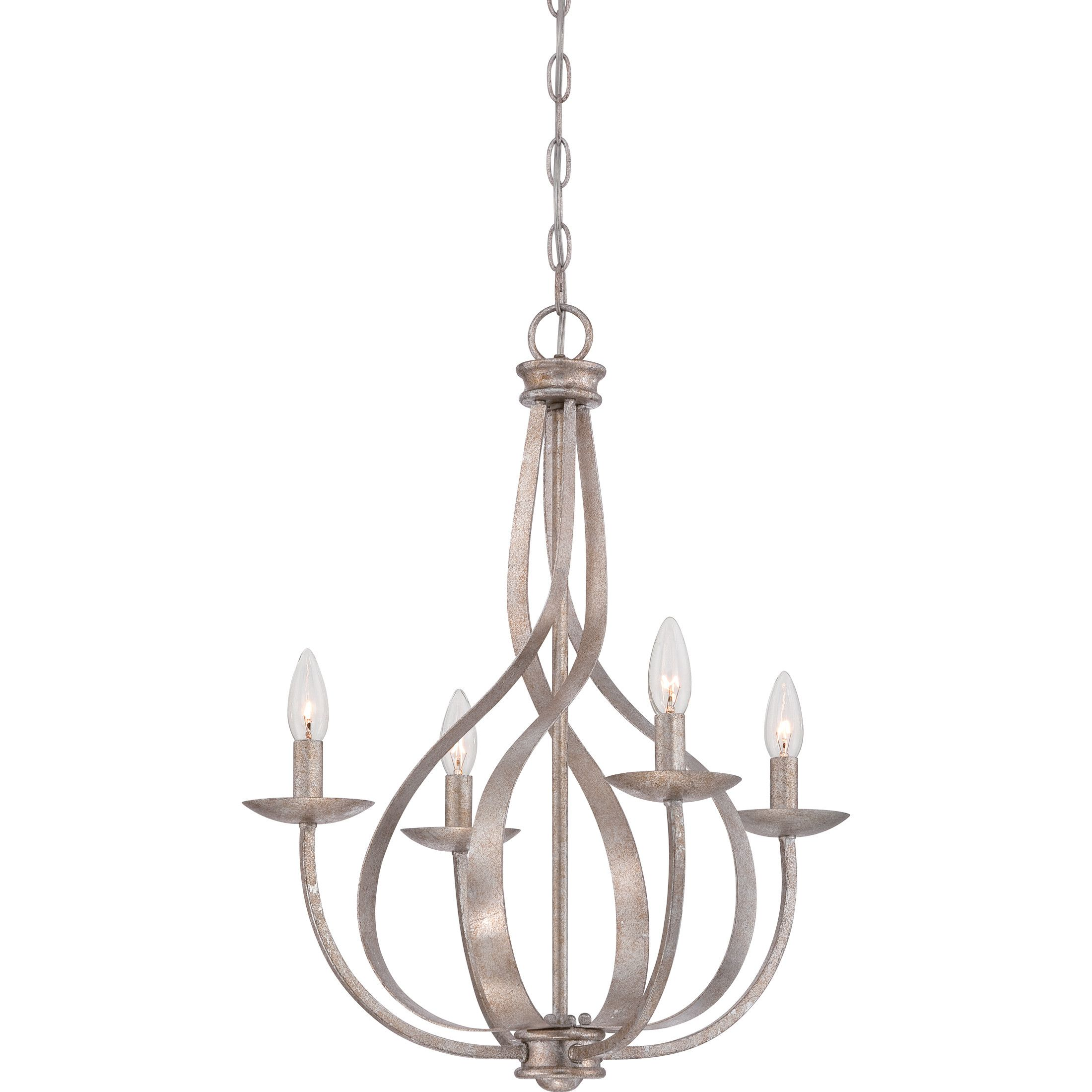 Quoizel Serenity 4 Light Candle Chandelier