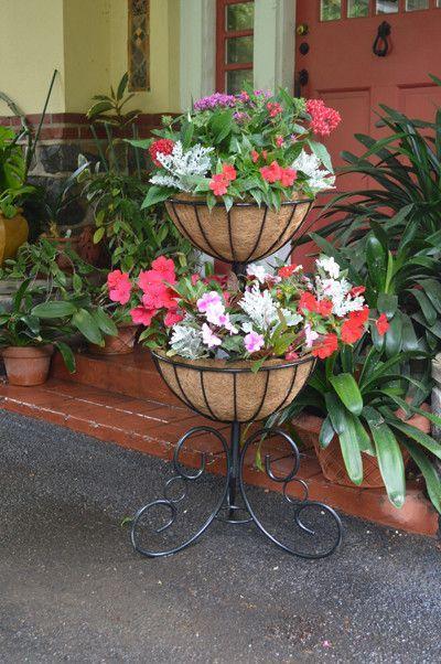 Classic Ironwork Two Tier Planter Tiered Planter Flower Pots Diy Garden Furniture