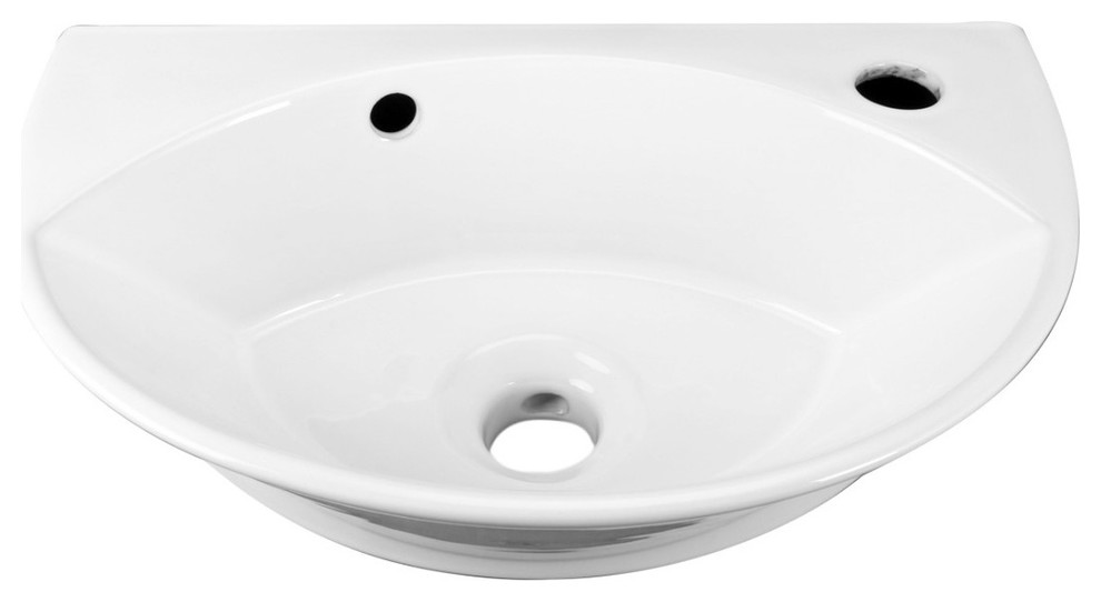 Renovators Supply Small Bathroom Wall Mount Sink In White With Overflow Contemporary Bathroom Sinks By In 2020 Contemporary Bathroom Sinks Wall Mounted Sink Sink