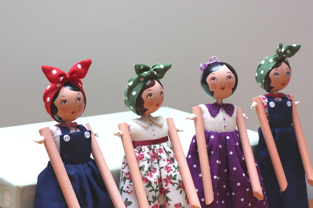 1940 S Friends Wooden Dolls By Isabella S Secret Attic
