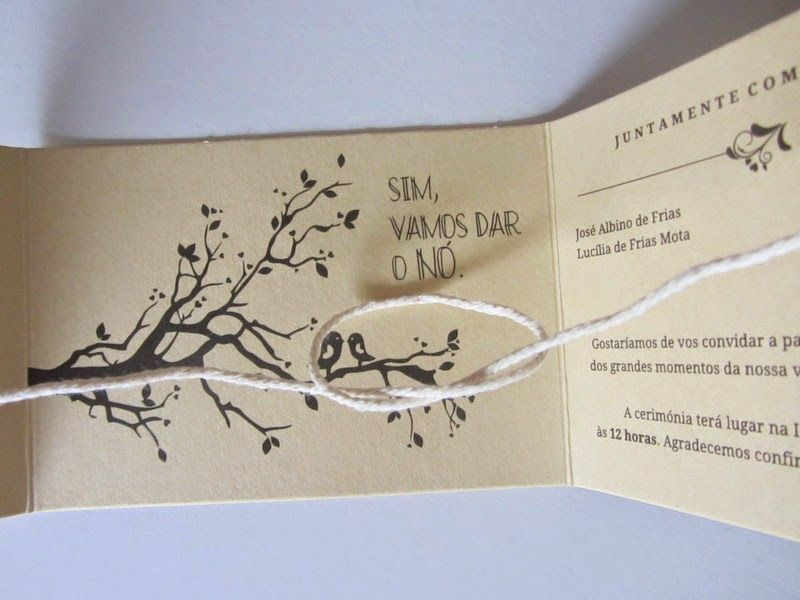 GUIDA Design de Eventos: Convites da Catarina e Bruno
