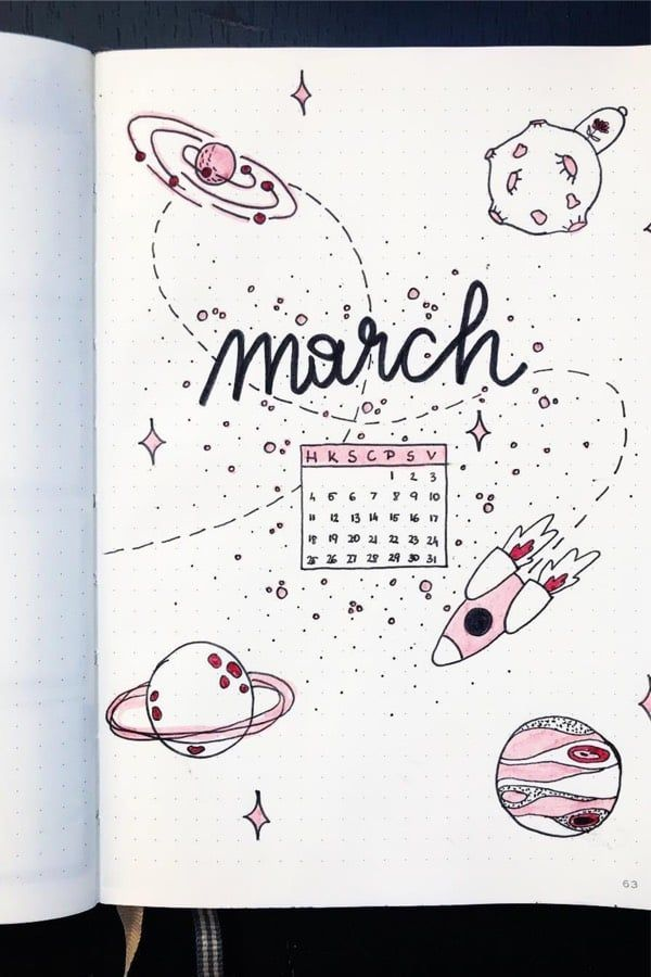 30 Adorable March Monthly Spreads & Cover Page Ideas - Crazy Laura