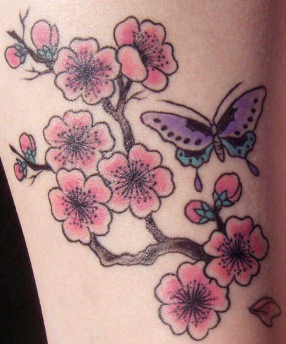 40 Beautiful Cherry Blossom Tattoos Nenuno Creative Blossom Tattoo Cherry Blossom Tattoo Tattoos