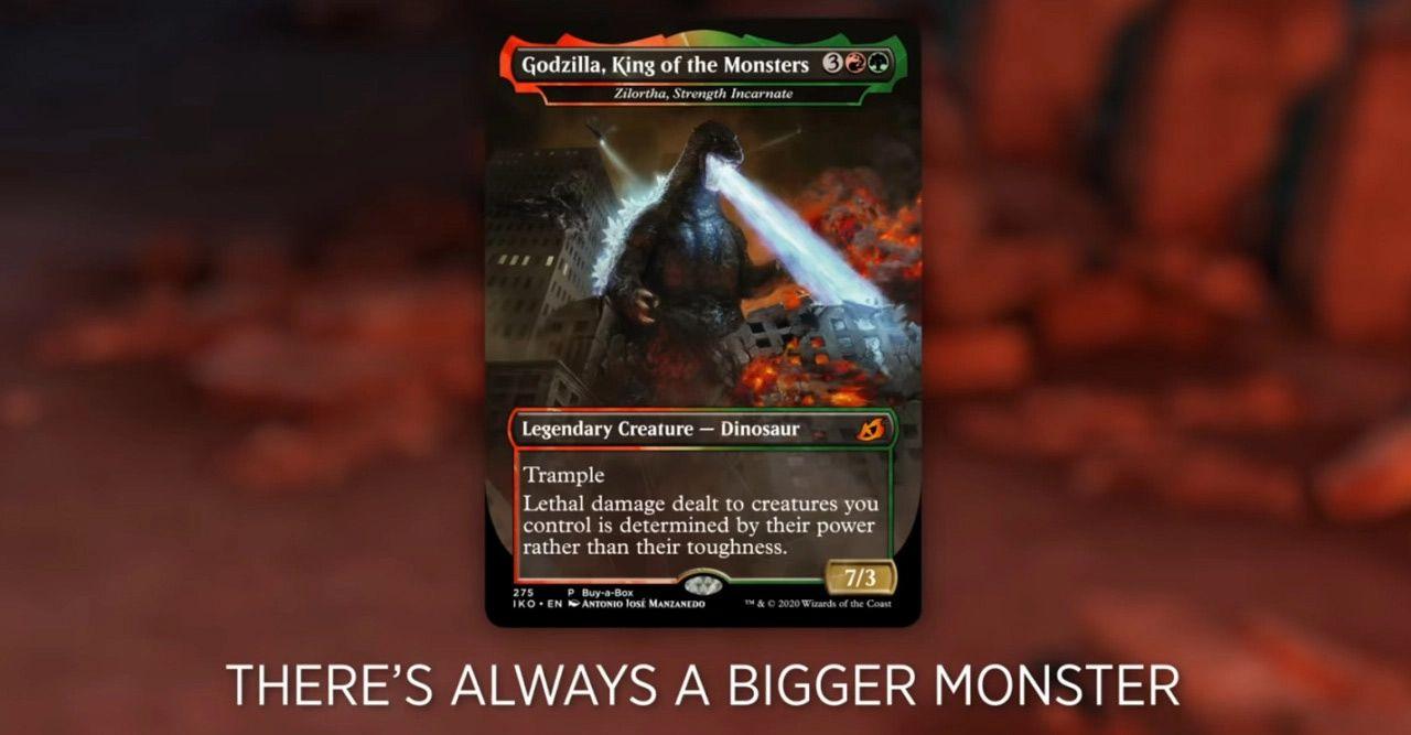 Godzilla komt naar kaartspel magic the gathering in 2020
