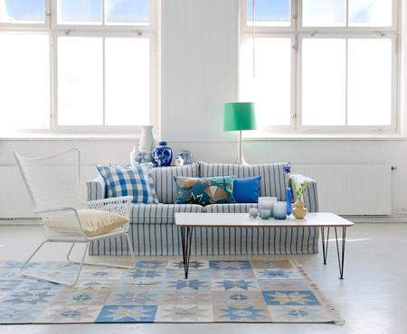 Arredamento Marinaro ~ Arredamento casa al mare in stile shabby chic divano a righe