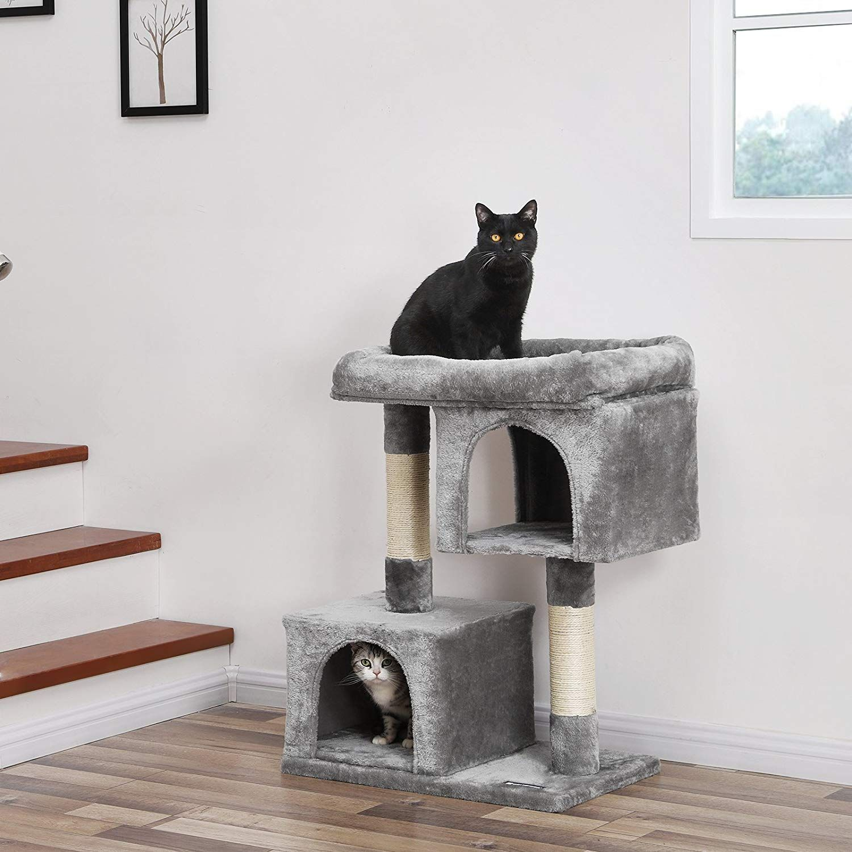 Small Grey Cat Tree Large