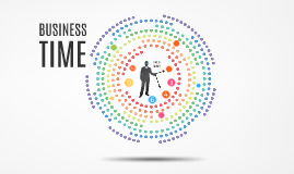 Business Time Prezi Template Has Colorful Small Circles As A