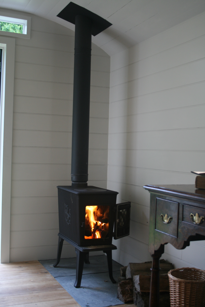 Between The Woods And The Water Freestanding Fireplace Wood Burning Stove Shepherds Hut