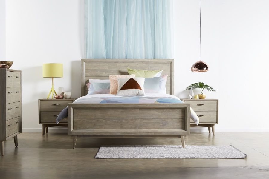 Celeste Bed Suite Retro Styling With A European Twist Acacia