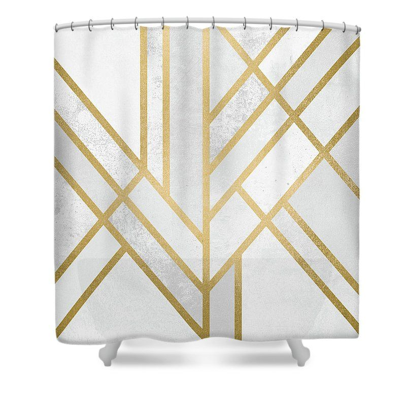Art Deco Gold Shower Curtain For Sale By Elisabeth Fredriksson