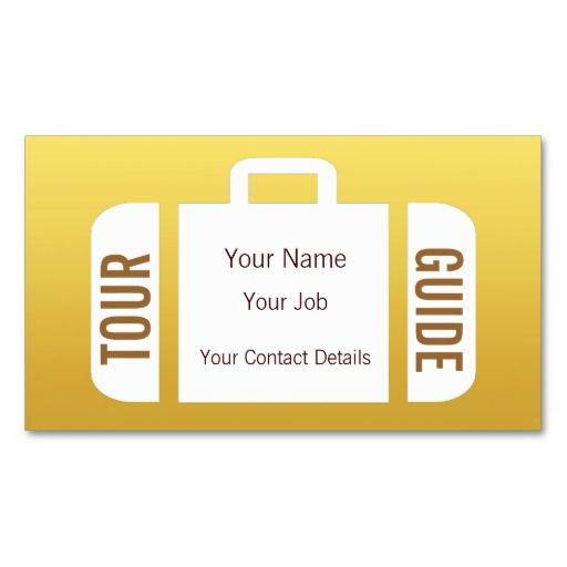 Suitcase Travel Agent Tour Guide Business Card Tour guide - travel agent job description