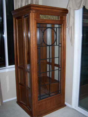Oak and Glass Telephone Booth